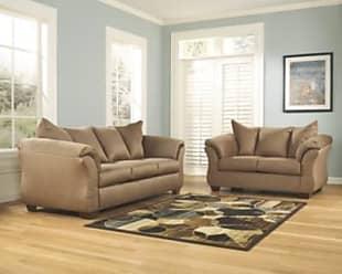 Ashley Furniture Darcy Sofa and Loveseat, Mocha