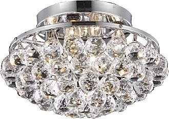Elegant Furniture & Lighting Elegant Lighting Corona 9805 Flush Mount Light, Size: 10 in. - V9805F10C/RC