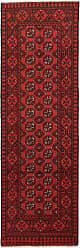 Nain Trading Oriental Rug Afghan Akhche 80x26 Runner Dark Brown/Rust (Wool, Afghanistan, Hand-Knotted)