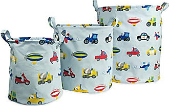 CHF Industries Dream Factory Trains and Trucks Tractor Storage Bin Organizer, Small: 9 x 10 inches; Medium 12 x 13 inches; Large 15 x 17 inches, Multicolor