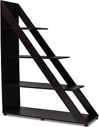 Ashley Furniture Psinta Modern Shelving Unit, Dark Brown