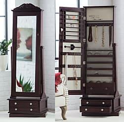 Belham Living Swivel Cheval Mirror Jewelry Armoire - GH15939