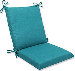 Pillow Perfect Outdoor Rave Teal Squared Corners Chair Cushion