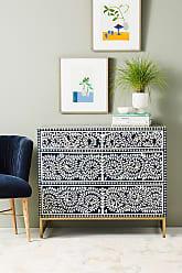 Anthropologie Scroll Vine Inlay Three-Drawer Dresser