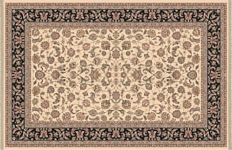 Dynamic Rugs Brilliant Collection Wool Hearth Rug-Ivory Frieze - BR2472284191