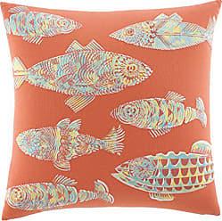 Revman International Tommy Bahama Batic Fish 20-inch Decorative Pillow, Antique Palm, Multi Orange