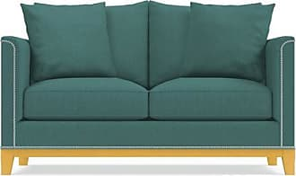 Apt2B La Brea Twin Size Sleeper Sofa - Leg Finish: Natural - Sleeper Option: Deluxe Innerspring Mattress - Teal Poly Blend - Sold by Apt2B - Modern Cou