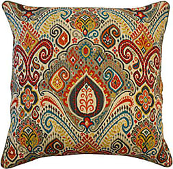 Ellery Homestyles WAVERLY 16870020X020FST Boho Passage Damask Pillow, 20 x 20, Fiesta