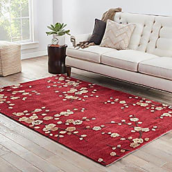 Jaipur Living Cherry Blossom Hand-Tufted Polyester Floral & Leaves Red Area Rug (2 X 3)