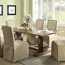 Coaster Fine Furniture Parkins Dining Table with Double Pedestals Rustic Amber