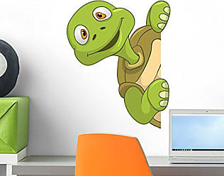 Wallmonkeys WM297580 Funny Turtle Peel and Stick Wall Decals (18 in H x 14 in W), Small