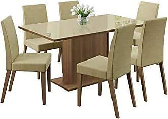 Madesa Conjunto de Mesa de Jantar 160 cm e 6 Cadeiras Vivere Rustic e Saara