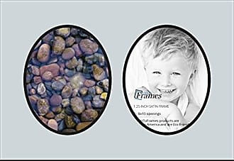Art to Frames Collage Photo Frame Double Mat with 2 - 8x10 Openings and Satin Black Frame