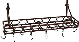 Old Dutch International Bookshelf Pot Rack, 36.25x9x12, Bronze