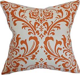The Pillow Collection The Pillow Collection Olavarria Damask Pillow, Orange Natural