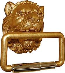 Hickory Manor House Lion Head Toilet Paper Holder, Gold Leaf