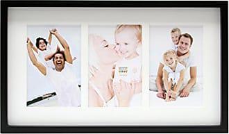 Deknudt Frames S65RQ2 Cadre Photo avec 2 Ouvertures en Aluminium Noir 6 x 9 cm