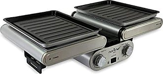 Nutrichef Cooking Grill | Fold-Out Indoor/Outdoor Electric Griddle with Vertical Grill Rack | For Fish, Steak, Skewers | Tabletop Safe | Teflon Tray | Drip Pan | Rotary Timer - Max Temp 464F - NutriChef