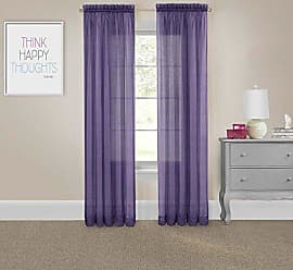 Ellery Homestyles Pairs To Go 16005118X095PUR Victoria Voile 118-Inch by 95-Inch Window Panel Pair, Purple