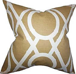 The Pillow Collection Whit Geometric Pillow, Amber