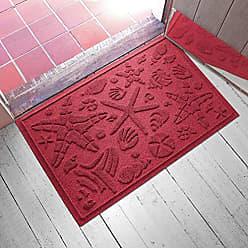 Bungalow Flooring AquaShield Beachcomber Doormat, 2 x 3, Red/Black