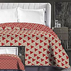 Rouge Double Face et Facile /à Nettoyer Noir avec Motif Cercles DecoKing 30/558,7/cm Salice Jet/é de lit 170/x 210/cm