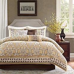 Madison Park MP10-764 Chapman 7 Piece Comforter Set, Gold