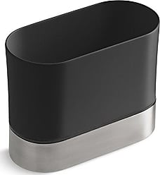 Kohler Kitchen Dish Brush Holder, Sink Caddy, Silicone and Stainless Steel, Charcoal