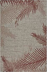 L.R. Resources Inc. LR Home CAPTI81023REE5070 Captiva Blushing Palms Indoor/Outdoor Area Rug, 5 x 7, Red/Beige