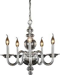 Elegant Furniture & Lighting Elegant Lighting Champlain 7872 Chandelier Finish Crystals, Size: 20 in. - 7872D20SS