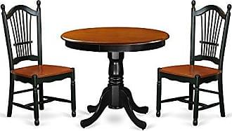 East West Furniture ANDO3-BCH-W Kitchen Set 3 Pieces Black/Cherry
