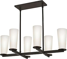 SONNEMAN 4926 High 6 Light Chandelier with Etched Cased Glass Shades