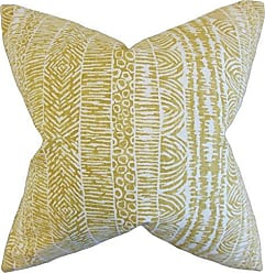 The Pillow Collection Jem Geometric Bedding Sham Amber Euro/26 x 26