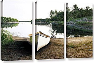 ArtWall Ken Kirshs Silent Retreat-1 3 Piece Gallery-Wrapped Canvas Set, 36 by 54
