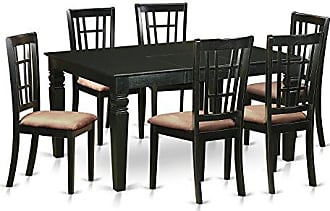East West Furniture WENI7-BLK-C 7 Piece Table and 6 Dinette Chair