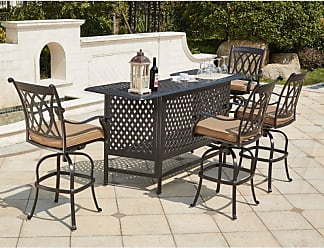DARLEE Outdoor Darlee Capri 5 Piece Aluminum Party Bar Patio Dining Set - 201660-5PC-60K