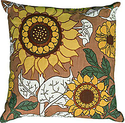 Rizzy Home T06326 Applique and Embroidery Details Decorative Pillow, 20 by 20-Inch, Orange
