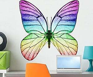 Wallmonkeys FOT-32988826-24 WM275622 Butterfly Rainbow Colors Peel and Stick Wall Decals H x 24 in W, 24 24 W-Medium