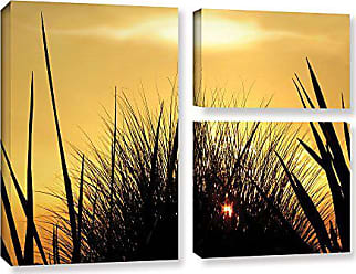 ArtWall Dean Uhlinger 3 Piece Deep in July Gallery-Wrapped Canvas Flag Set, 36 by 48