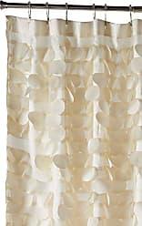 Lush Décor Triangle Home Fashions 16685 Gigi Shower Curtain, Ivory