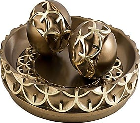 Ore International K-4273B Mystic Owl Bowl with Spheres, 11.75 W x 5 H, 11.75 x 5, Gold