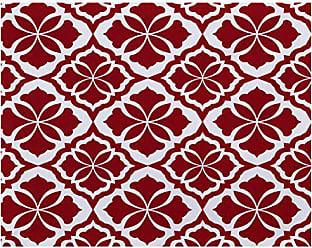 E by Design E by design PT4G798RE5 Ceylon, Geometric Print Placemat 18x14 Red