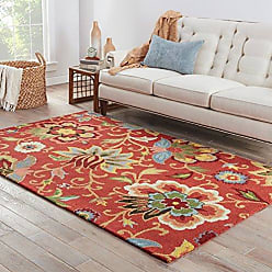Jaipur Living Zamora Hand-Tufted Floral & Leaves Red Area Rug (36 X 56)