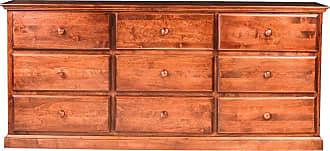 Forest Designs Wooden 9 Drawer Dresser Unfinished Alder - B3044C- TA-UA