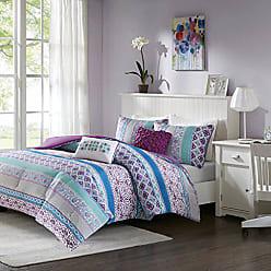 INTELLIGENT DESIGN Joni Comforter Set Full/Queen Size - Purple, Blue, Bohemian Pattern - 5 Piece Bed Sets - Ultra Soft Microfiber Teen Bedding for Girls Bedroom