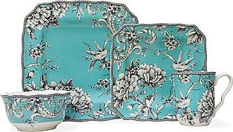 222 Fifth Adelaide 16 Piece Dinnerware Set Turquoise - 1000TQ804A1G95