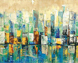 Portfolio Canvas Decor Urban Mix Blue II by Sandy Doonan Wrapped Canvas Wall Art, 16x20