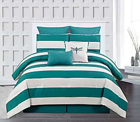 Duck River Textile Duck River Textile Delia Hotel Quality Luxury Comforter Duvet Insert Cover 100% Ultra Soft Hypoallergenic | 7 Piece Set | Floral Collection, | Queen Size |, Dusty Teal