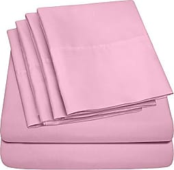 Sweet Home Collection Queen Sheets Pink - 6 Piece 1500 Thread Count Fine Brushed Microfiber Deep Pocket Queen Sheet Set Bedding - 2 Extra Pillow Cases, Great Value, Queen, Pink