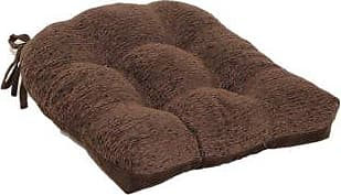Brentwood Originals Brentwood 3439 Crown Chenille Tufted Chair Pad,  Chocolate